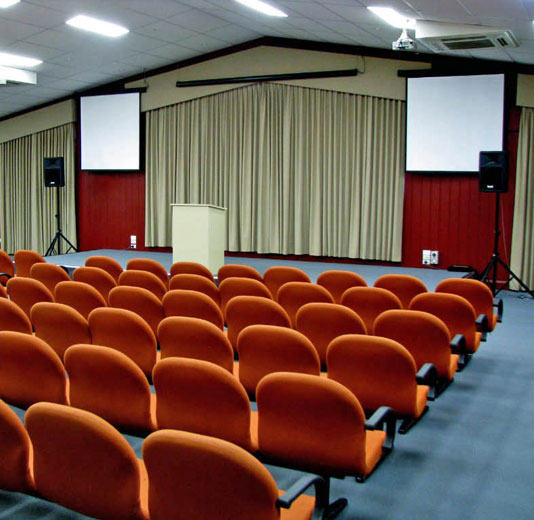 Function Room with orange lecture seating